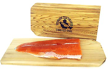 Wild Chinnok Salmon with Cedar Plank from Fisherman Direct Seafood